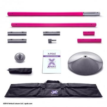X Pole XPERT 45mm pulverbeschichtet pink spinning