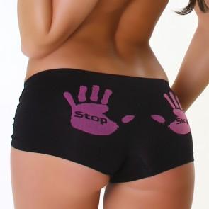 Sexy Hotpants Stop schwarz L/LX