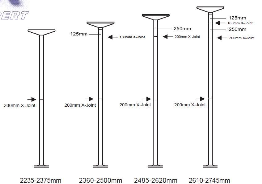 x-pole Höhenkalkulator